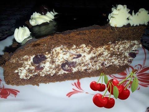 Торт Пьяная вишня. видео рецепт домашнего торта