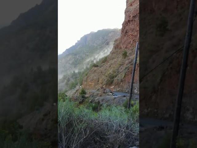 Desprendimientos en La Caldera (El Pasó).