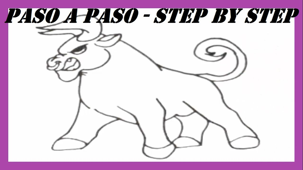 Como dibujar un Buey paso a paso l How to draw an Ox step by step ...