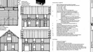 PDF Barn Plans - G440c 24 X 36 X 8 - 2 Story Barn Workshop