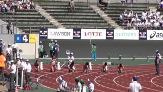 少年女子A100m予選1組 島田沙絵 11.83(+1.6) 岐阜国体 Sae Shimada 1st