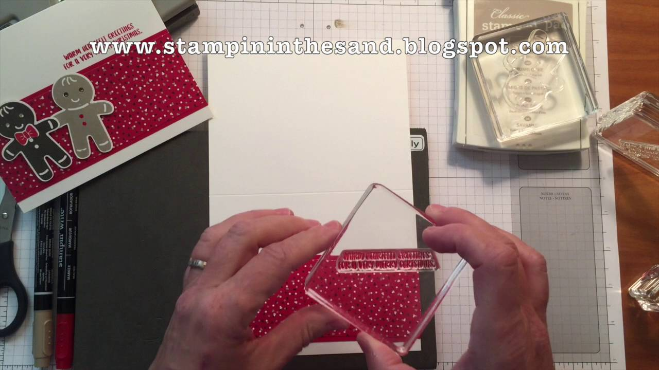 how to create a cookie cutter christmas ginger man card using my one