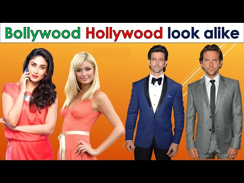 Top 10 Bollywood and Hollywood celebrities look alike unbelievable