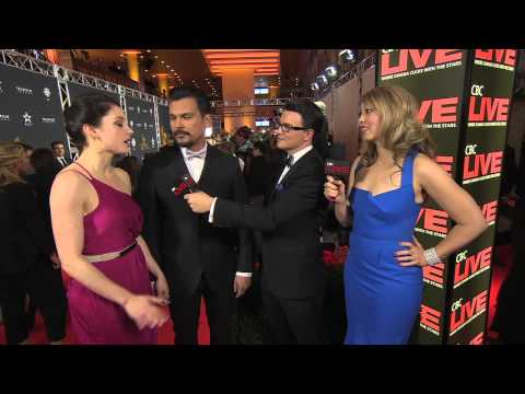 Adam Beach and Leah Gibson on the Canadian Screen Awards Red Carpet | CBC