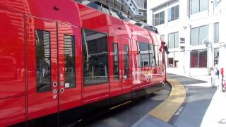 San Diego Trolley #1047 and #4024 at American Plaza