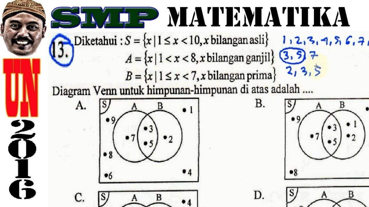Un smp 2016 matematika diagram venn himpunan no 13 youtube un smp 2016 matematika diagram venn himpunan no 13 ccuart Choice Image