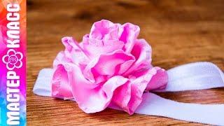 Как сделать розу из атласной ленты? ✄ Kulikova Anastasia