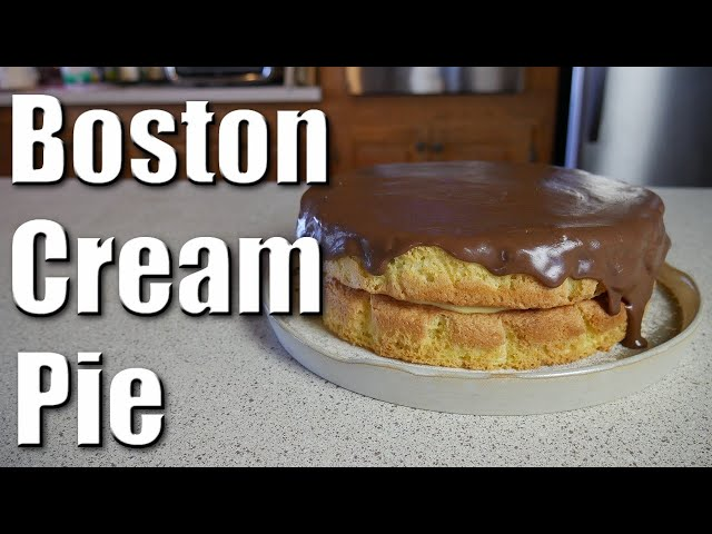 Boston Cream Pie | Baking With ChefJohnReed