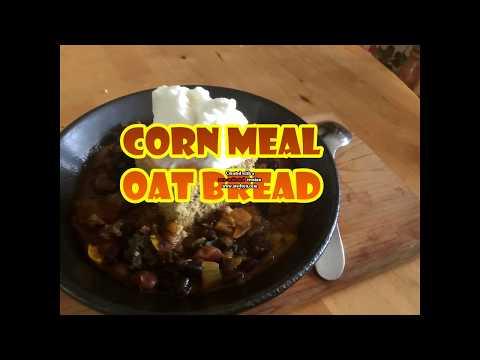 Corn meal oat bread