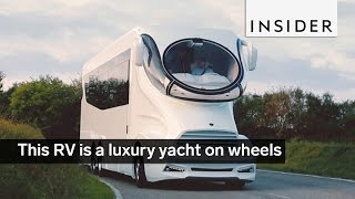 This RV is a luxury yacht on wheels
