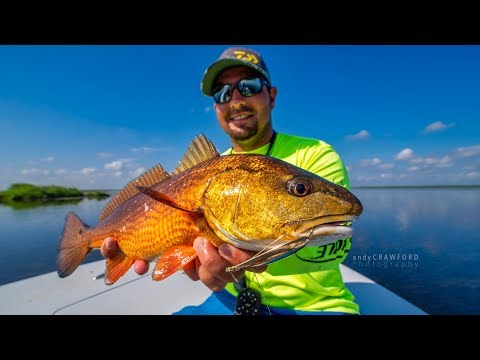 Catching redfish and more after wicked west wind