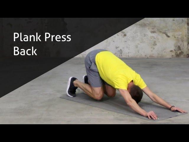 Plank Press Back - hoe voer ik deze oefening goed uit?