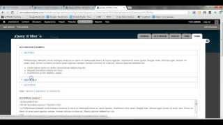 Cool Module - jQuery UI Filter(In this screencast I will show you how easy it is to get the jQuery UI accordion and tabs functionality on your own Drupal 7 site. All you need to do is install a ..., 2013-04-15T07:58:58.000Z)