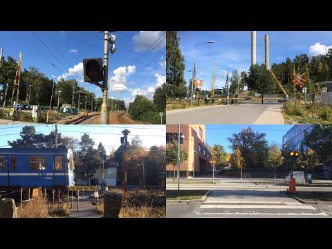 Udda plankorsningar i Stockholm / Unusual level crossings in Stockholm