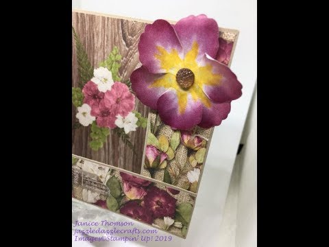 Bridge Card with Stampin' Up! Pressed Petals Speciality Designer Series Paper