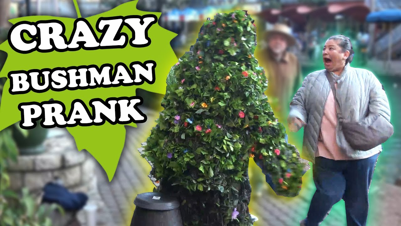 You Have To Watch This Till The END!! FUNNY VIDEO - BUSHMAN SCARE PRANK