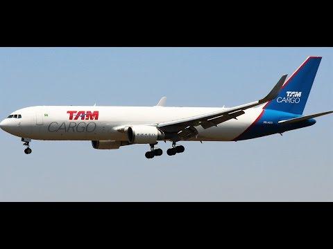 Avião da AA e TAM Cargo pousando em Confins - CNF