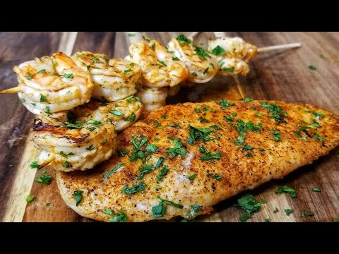 Cajun Chicken Breast And Shrimp - Surf And Turf - Beazell's Cajun Seasoning First Impressions