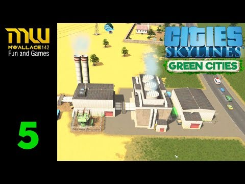 Busy Town Green Power| CITIES SKYLINES | GREEN CITIES DLC Gameplay