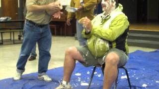Pack 255 Cubmaster gets a pie in the face, 2013 Thumbnail