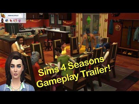 Lex Look! Sims 4 Seasons Game Play Trailer  