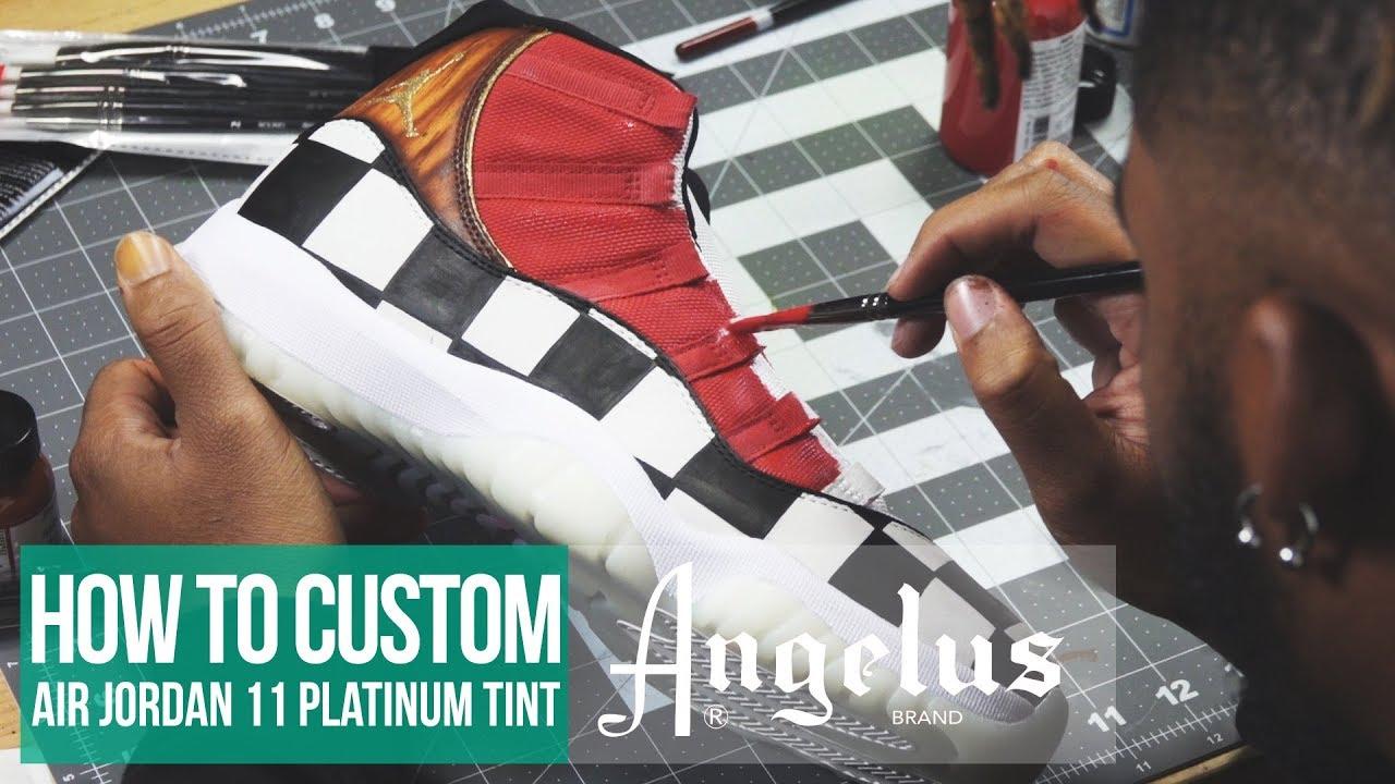 e3592671491c2b Custom Air Jordan 11 Platinum Tint