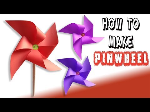 DIY | How to make easy Origami Pinwheel for kids that spins | Paper Windmil | Paper Toy Tutorial