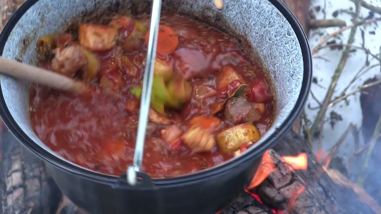 Hungarian Goulash Out Of The Pot Traditional Reciepe Youtube