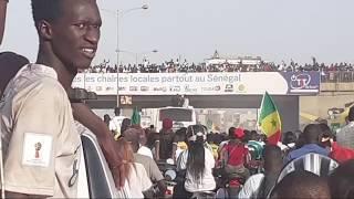 La forte mobilisation des Sénégalais pour les lions