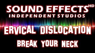 SFX - SOUND EFFECT: CERVICAL DISLOCATION - BREAK YOUR NECK - GENICKBRUCH