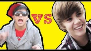 Justin Bieber CAN'T RAP & HITS CHILD!