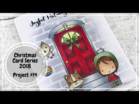 One Layer Card Using Multiple Masks Christmas 2018