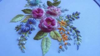 Embroidery: Tea Rose || Вышивка: Чайная Роза