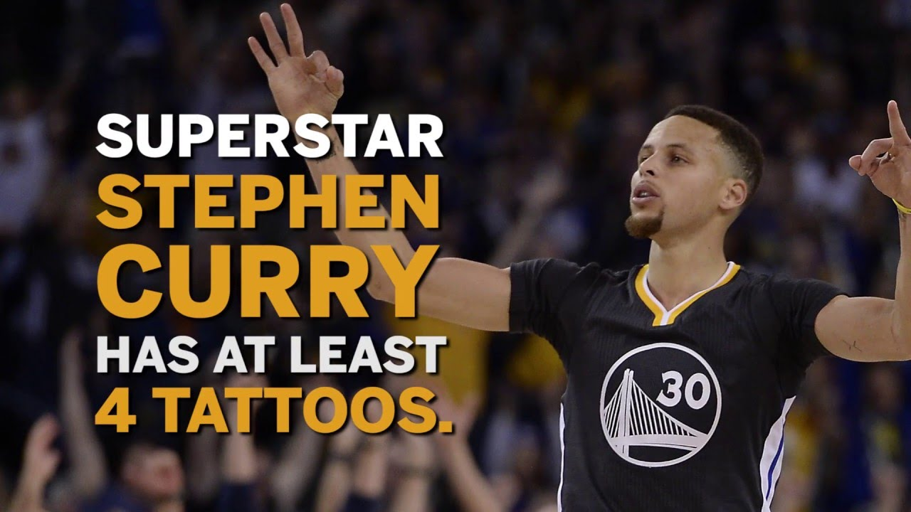 Steph curry s tattoos youtube for Does steph curry have tattoos
