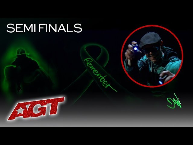 Light Painter Alex Dowis Makes An EMOTIONAL Tribute To First Responders - America's Got Talent 2019
