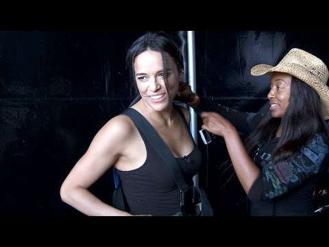 Ziplining With Michelle Rodriguez at Call of Duty XP