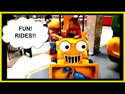 Kiddie Rides At The Mall Bob The Builder Tractor School Bus