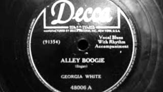 Georgia White-Alley Boogie