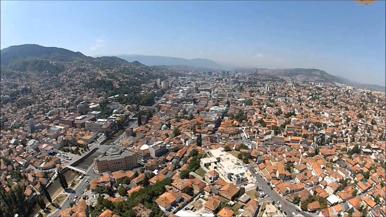 Sarajevostari Gradiz VazduhaSarajevoold Town From The