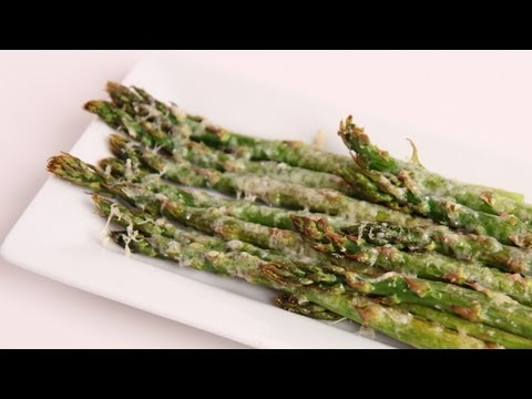 Parmesan Roasted Asparagus Recipe Laura Vitale Laura in the Kitchen Episode 370