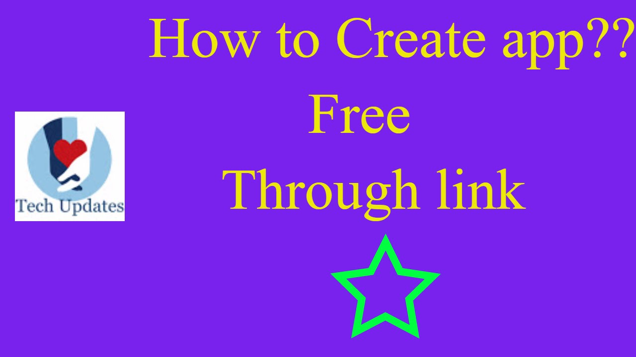 how to create app for free through link youtube