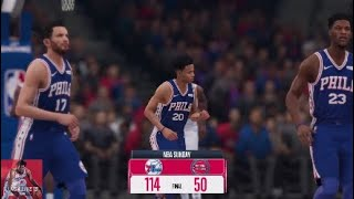 Markelle Fultz Nets 48 Points in Comeback Game! | NBA 2018-2019: 76ers @ Pistons | NBA LIVE 19 Game