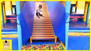 Indoor Playground Fun for Kids and Play Family Slide Rainbow Colors Balls | MariAndKids Toys