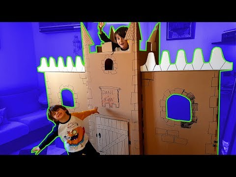 How to make a cardboard castle for children