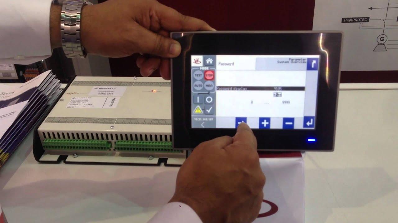 Mee2016 Woodward Easygen-3100xt  U0026 New Touch Remote Panel Demonstration