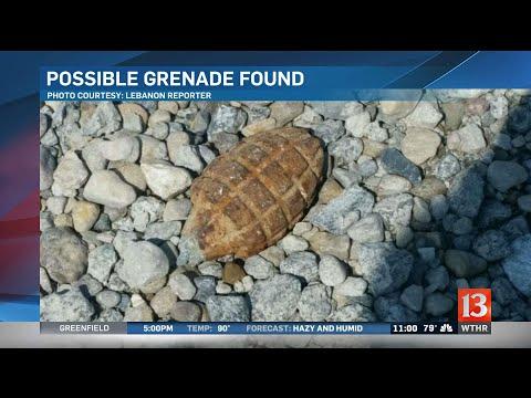 Boone County police investigate possible grenade