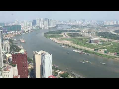 360 View of Saigon, Vietnam from Bitexco Financial Tower