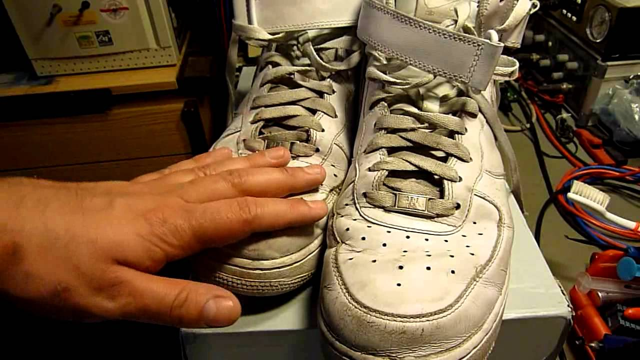 The hottest Sneaks ever: Nike Airforce 1 well worn out ;) - YouTube