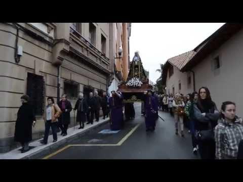 SEMANA SANTA 15 Villaviciosa Sabado  procesión de La Soledad, la Madre Dolorosa y el Discípulo Amado