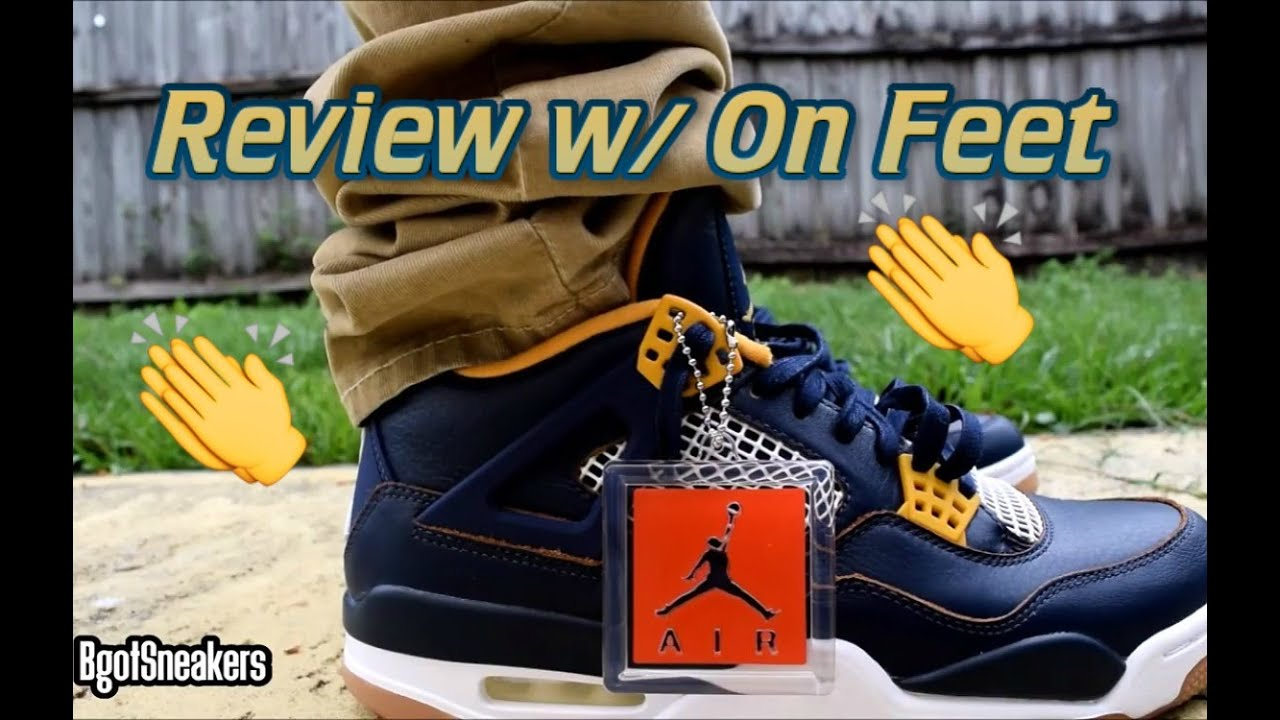 4b7f7315ebd7ef nike air jordan 4 dunk from above review and detail shots white ...